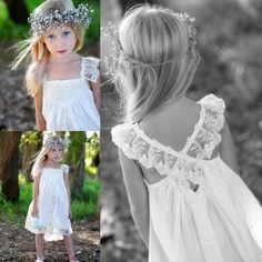 Girl Dresses 2015 Vintage Lace Flower Girls' Dresses Cheap Square Neckline Cap Sleeve Beaded Knee Length Backless Little Girls Bridal Party Pageant Gowns Girls Wedding Dress From Sarahbridal, $66.34  Dhgate.Com