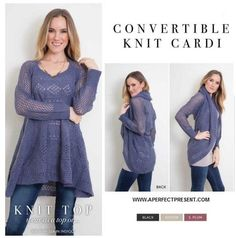 Convertible Knit Cardi Wrap by Simply Noelle