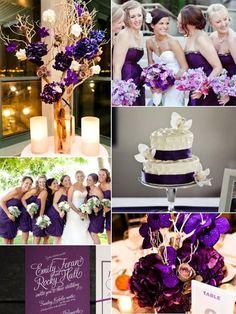 Resultado de imagen para decoracion de boda violeta y plata