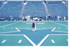 On the star at the old Cowboy's stadium. Mid 90s.