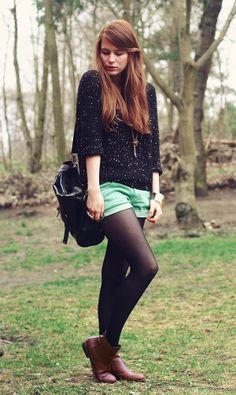 Tights and Shorts.