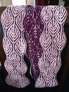 """Ravelry: leyali's Alex Scarf; 2-color scarf pattern from Nancy Marchant's Craftsy """"Explorations in Brioche Knitting"""" class."""