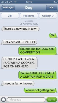 Bat Dog vs. Iron Dog