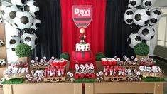 Football Theme Birthday, Football Themes, Soccer Party, Birthday Decorations, Birthday Ideas, Party Themes, Party Ideas, Advent Calendar, Birthday Cake