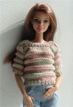 Barbie's friend, Theresa in a cute sweater.