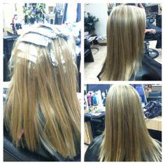 feeling to blonde? add a few lowlights to break it up a little like we did here #hair #haircolor #matrix #shearnirvanasalon #laurynjoneshair #temecula #enjoy #highlights #lowlights #laurynjones
