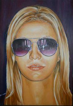 Geanina, acrylic on canvas, 70x100 cm