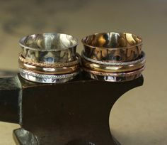 Imperial Sterling Silver Spinner Ring with by charmedlifedesigns, $100.00