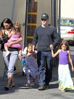Matt Damon and family