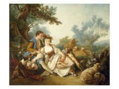The Basket of Roses, 1785 Giclee Print by Jean-Baptiste Huet at AllPosters.com