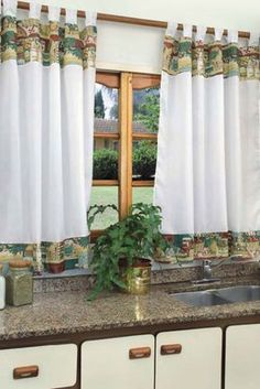 Curtains And Draperies, Window Drapes, Blinds For Windows, Rideaux Design, Curtain Designs, Kitchen Curtains, Shabby Chic Decor, Home Projects, Sweet Home