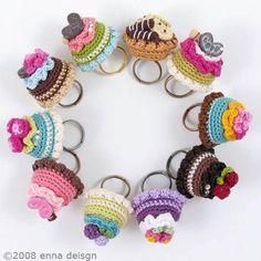 virka ring tips inspiration handarbete pyssel restgarn ide cup cakes
