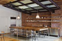 rustic steam punk industrial house | Industrial-Looking Bar Stools