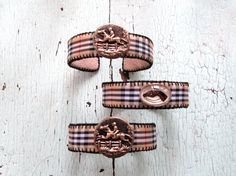 Equestrian Plaid Cuffs by lesliejanson on Etsy