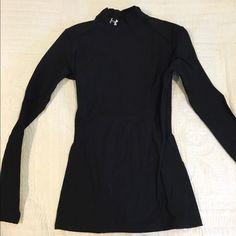 Under Armout Turtleneck Black basic top. Previously worn but in great condition! Great for any winter workout or training outside! Under Armour Tops