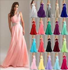 New formal long #evening gown #party prom bridesmaid #dress size 6 8 10 12 14 16 ,  View more on the LINK: http://www.zeppy.io/product/gb/2/141029983991/