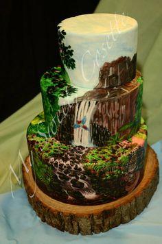 Jungle Cake ~ Hand Painted