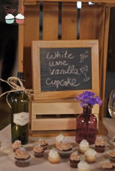 Wine Cupcake Display