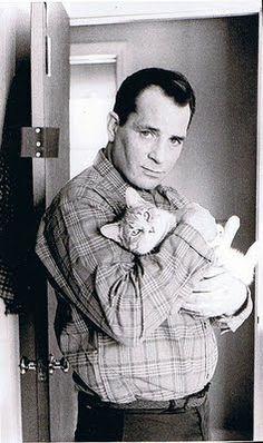 Jack Kerouck and his cat Tyke. #books BookLikes.com