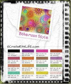 Color Palette- Boho Style via- http://blog.Cre8aRt4LifE.com