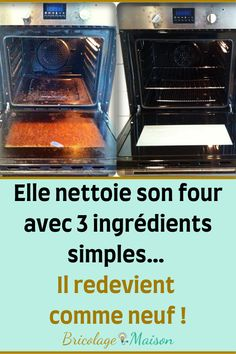 She cleans her oven with 3 simple ingredients … It becomes like new again! Oven, Cleaning, How To Plan, Simple, Health, Diy, Outdoor Gardens, Houses, Cleaning Tips