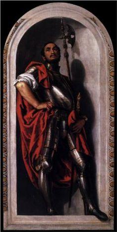 St Mennas. Veronese. 1560. Oil on canvas. 247 x 122 cm. Galleria Estense. Modena.