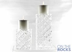Ice Sculpture #Ice Ice Sculptures, Pillar Candles, Candle Holders, Cool Stuff, Porta Velas, Candles, Candlesticks, Candle Stand