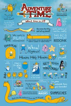 Adventure Time Poster the awesomeness of quotes