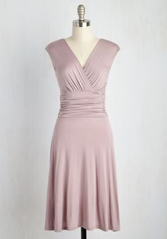 As a Gather of Fact Dress. Youve done your research and reviewed the evidence - this mauve dress is a staple you just cant live without! #blush #modcloth