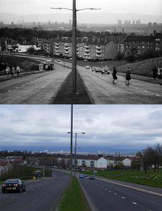 Carmunnock road then and now