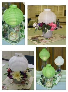 Artisitc paper lantern centerpieces by jerrypisani on etsy 5000 centerpiece and trio made with paper lanterns great for garden parties by carol junglespirit Gallery