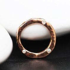 Anneau O'hasard GM Or rose diamants