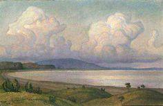 Борис Смирнов-Русецкий.   Облако над озером. Пирос.    Boris Smirnov-Rusetsky.   Cloud above lake. Piros.