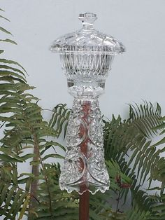 Glass Garden Totem Fairytale Crystal Turret by GardenGlasscapes, $30.00 SOLD