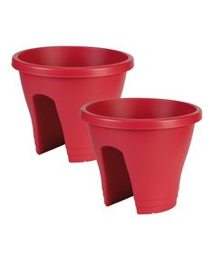 Take a look at this Fuchsia Round Corsica Planter - Set of Two on zulily today!