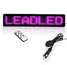 34.00$  Watch now - http://aligue.shopchina.info/1/go.php?t=32691423242 - LED Display Car Sign Red LED Light Programmable  Scrolling Moving Message Display Board Remote Control LED Bus Sign Display 34.00$ #buyonline