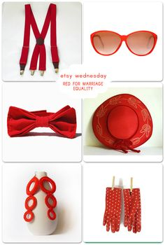 Etsy Wednesday: Let's Wear Red for Equality!