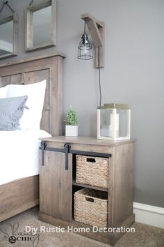 DIY barn door can be your best option when considering cheap materials for setting up a sliding barn door. DIY barn door requires a DIY barn door hardware and a Diy Barn Door Hardware, Diy Sliding Barn Door, Diy Door, Sliding Doors, Diy Barn Door Plans, Sliding Wall, Wood Plans, Entry Doors, Diy Nightstand