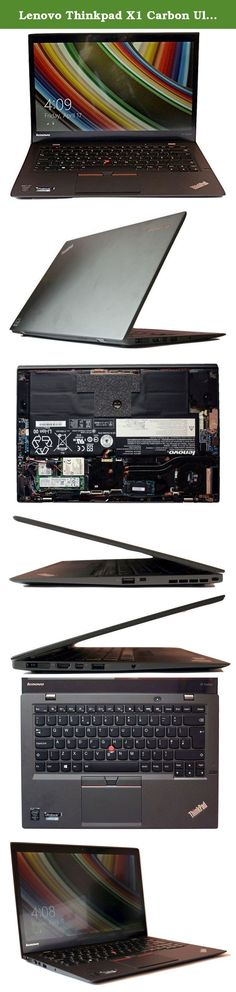 """Lenovo Thinkpad X1 Carbon Ultrabook 20BS009YUS (14"""" WQHD IPS Display, Intel i7-5600U 2.6GHz, 8GB RAM, 256GB SSD, Fingerprint Reader Backlit Keyboard, Webcam, Windows 10 pro 64). Lenovo brings you the Thinkpad X1 Carbon 3rd Generation Ultrabook. Featuring Intel's powerful 5th Generation i7-5600U processor clocked in at 2.6GHz with turbo boost up to 3.2GHz. Reduce your loading times with the high speed performance of a solid state drive. Images are full bright colors and vibrant detail…"""