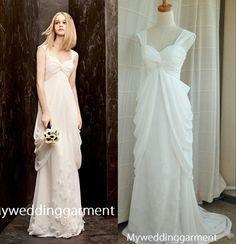 Cap Sleeve Fashion Wedding Dress Vintage by Myweddinggarment, $245.00