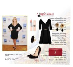 """""""Reese Witherspoon """"Speak Out Against Domestic Violence"""""""" by styling4life ❤ liked on Polyvore featuring Love Moschino, Christian Louboutin, Yves Saint Laurent, Jaeger and Dolce&Gabbana"""
