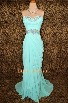 Cheap A-line Strapless Sweetheart Blue Prom Dress, Graduation Dresses, Evening Dress, Blue Dress, Formal Dress on Etsy, $194.99