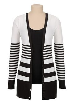 variegated stripe grandpa cardigan (original price, $34) available at #Maurices