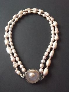 Items similar to Light Pink Freshwater Pearl Necklace on Etsy Designer Jewellery, Jewelry Design, Unique Jewelry, Freshwater Pearl Necklaces, Fresh Water, Jewelery, Pearls, Trending Outfits, Handmade Gifts