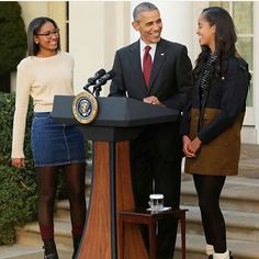 President Obama and his mature girls
