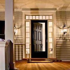 If your front door looks great, opt for a storm door that's primarily glass to show it off!
