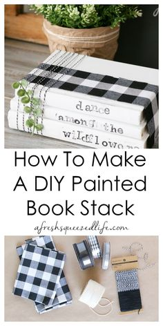 PAINTED BOOK <br> Got some old books? Got some chalk paint? Let's make a DIY Painted Book Stack. This simple craft is perfect for decor or for gifting! Upcycled Crafts, Diy Home Crafts, Diy Crafts To Sell, Decor Crafts, Sell Diy, Recycled Art, Recycled Materials, Diy Home Decor, Wooden Books