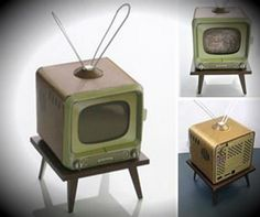 Vintage Television Paper Model In Scale Miniature Furniture, Dollhouse Furniture, Diy Dollhouse, Dollhouse Miniatures, Paper Toys, Paper Crafts, Mini Tv, Vintage Television, Television Set