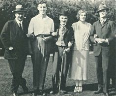 My grandparents, on their honeymoon, with Douglas Fairbanks and Charlie Chaplin!