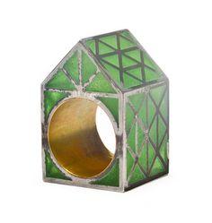 Beate Klockmann, The green house ring, 2013, ring, 35 x 20 x 20 mm, photo: artist